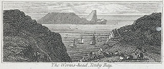 The Worms-head, Tenby bay
