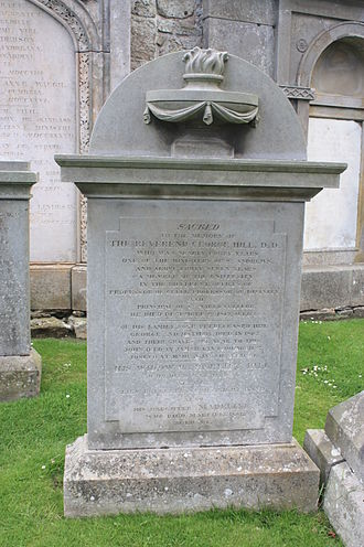 George Hill (minister) - The grave of Rev George Hill, St Andrews Cathedral churchyard