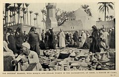 The potters' market, with Mosque and Fellah Women in the Background, at Gizeh, A suburb of Cairo. (1911) - TIMEA.jpg