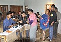 The voters at a polling booth to cast their votes for the 2nd Phase of General Elections-2014, in Kiphire District Eastern part of Nagaland on April 09, 2014.jpg