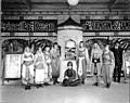 Theatrical performers outside of theatre, ca 1920 (SEATTLE 400).jpg