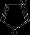 Thiazole simple structure.png