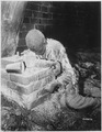 This victim of Nazi inhumanity still rests in the position in which he died, attempting to rise and escape his... - NARA - 531265.tif