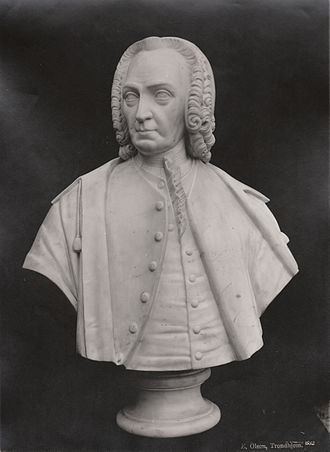 Thomas Angell (born 1692) - Marble bust of Angell from 1845 by Hans Michelsen.