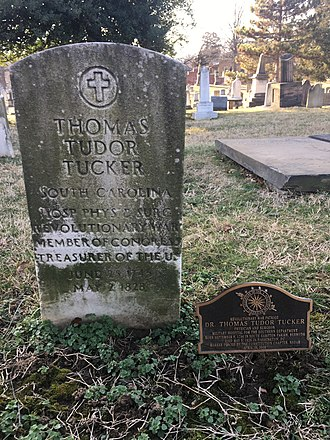Thomas Tudor Tucker - The gravestone of Thomas Tucker Congressional Cemetery