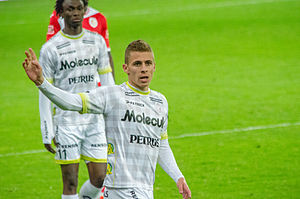 Thorgan Hazard - Hazard playing for Zulte Waregem in 2014