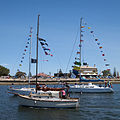 Three boats at the Flotilla for Kids 2010.jpg