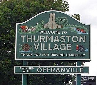 Thurmaston - Image: Thurmastonsign