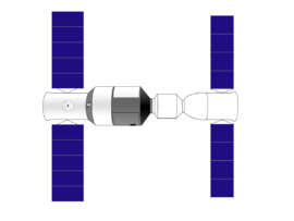 diagram of SZ-9 docked with TG-1