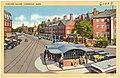 Tichnor Brothers Harvard Square postcard, circa 1930s.jpg