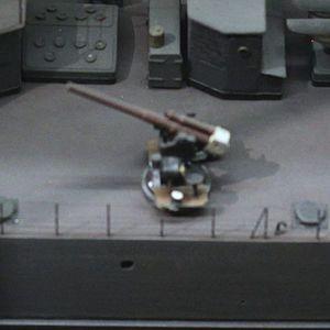 Canon de 75 mm modèle 1924 - The Canon de 75 mm modèle 1924 represented on a 1/75 scale model of ''Tigre''