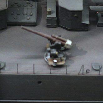 Canon de 75 mm modèle 1924 - The Canon de 75 mm modèle 1924 represented on a 1/75 scale model of Tigre