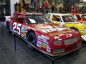 Tim Richmond - Richmond's No. 25 on display at the Hendrick Motorsports shops in 2013