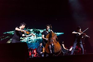 Time for Three - Time for Three at Night of the Proms (2016); Charles Yang, Ranaan Meyer. and Nick Kendall (l to r).