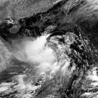 1983 Pacific typhoon season - Image: Tip 1983071103GMS2IR