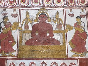 Trilokyanatha Temple - Paintings on the walls of the shrines