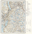 Topographic map of Norway, G34 vest Jevnaker, 1964.jpg