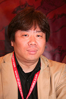 Masamune Shirow, the main designer, is very protective of his personal image; the craving for his photo led to his fake identification with designer Toshihiro Kawamoto (pictured).[13]