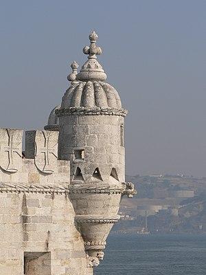 Bartizan in Belem Tower, Lisbon, Portugal.