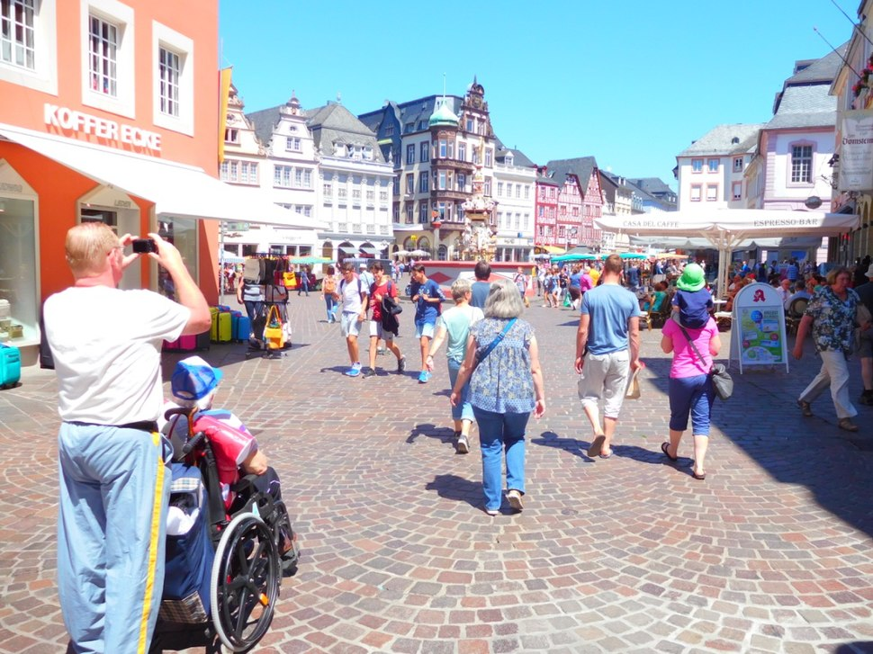 Tourists in Trier, Germany