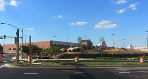 Towne Centre at Laurel - A portion of the shopping center, under construction in June 2014
