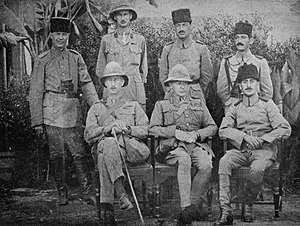Kut - Townshend, Khalil Pasha and other unidentified officers after surrender of the Kut Garrison in 1916