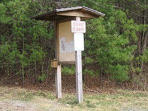 Trailhead - Kiosk at a trailhead