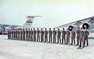 443d Airlift Wing - C-141A Graduating Class, 1970s (66-0179 in background)