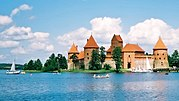 Trakai Island Castle. Trakai was one of the main centers of Grand Duchy of Lithuania