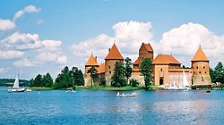 Trakai Island Castle. Trakai was one of the main centres of the Grand Duchy of Lithuania