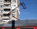 Tram in Sofia in front of Tram depot Banishora 018.jpg