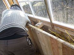 Treehouse building insulating.jpg