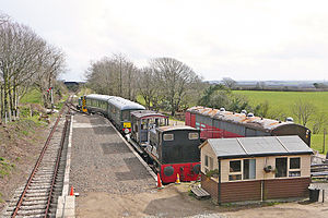 View of the station (now disused) at Trevarno in April 2010