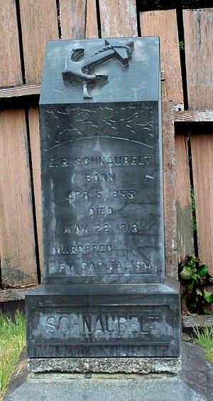 Trinidad, California - Edward Bernhardt Schnaubelt's tombstone in the Trinidad Cemetery
