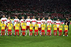 Turkey national football team - The Turkish team during the UEFA Euro 2012 qualification.
