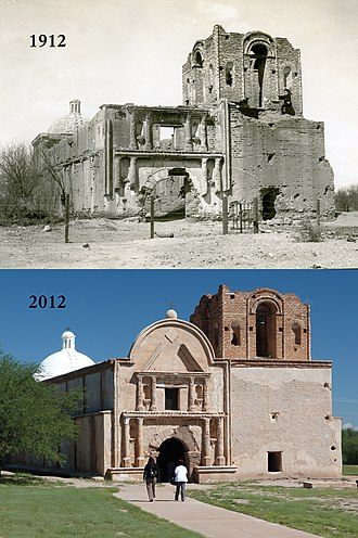 Tumacácori National Historical Park - Restoration efforts have brought buildings closer to their original decline since falling into disrepair