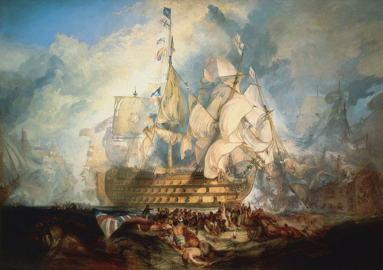 pour discution HMS Victory 1280px-Turner%2C_The_Battle_of_Trafalgar_%281822%29