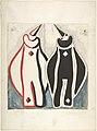 Two clown costumes, red and black MET DP804936.jpg