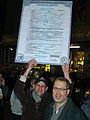 Two protesters of Proposition 8 hold up their marriage certificate.jpg