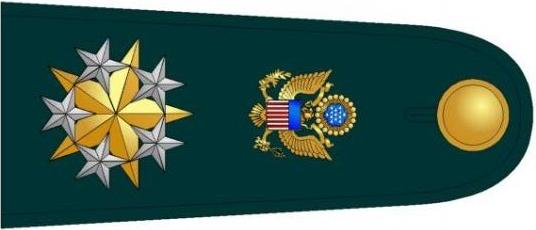 U.S. Army O-12 shoulderboard, rotated (1981–2015)