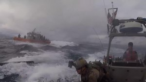 File:U.S. Coast Guard Cutter Munro crew interdicts suspected drug smuggling vessel DOD 106999572-5d2aa0d64235b.webm