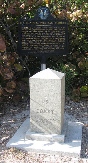 Key Biscayne - U.S. Coast Survey Base Marker