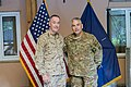 U.S. Marine Corps Gen. Joseph F. Dunford Jr., left, the outgoing commander of the International Security Assistance Force and U.S. Forces-Afghanistan, stands for a photo with incoming commander U.S. Army Gen 140826-D-HU462-412.jpg
