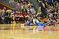 UCLA players on floor vs USC in 2014.jpg