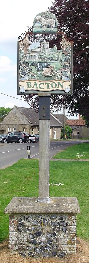 Bacton, Suffolk - Signpost in Bacton