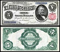 $5 Silver Certificate, Series 1891, Fr.267, depicting Ulysses Grant