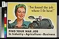 US-Poster für Werbung für Frauenarbeit während des Zweiten Weltkriegs.jpg