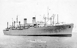 USS Admiral W. S. Benson (AP-120) - Image: USNS General Daniel I. Sultan (T AP 120)
