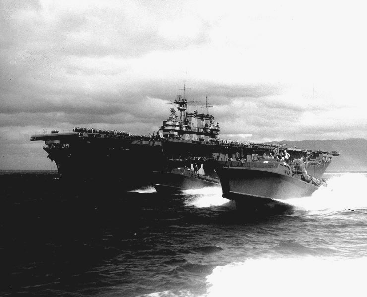 USS Hornet with PT-28 and PT-29