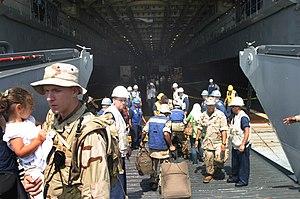 USS Nashville (LPD-13) - Image: USS Nashville LPD 13 Lebanon evac